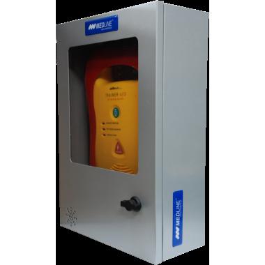 Szafka metalowa na defibrylator AED
