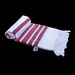 Chusta Hammam do sauny 100 x 170 cm biało czerwona
