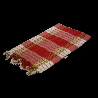 Chusta Hammam do sauny  80 x 170 cm czerwona