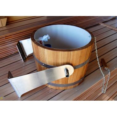 Wiadro prysznicowe do sauny 20l dąb